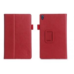 Чехол книжка подставка текстура Узоры с рамочной защитой экрана, крепежом для стилуса, отсеком для карт и поддержкой кисти для Lenovo Tab 3 8 Plus Красный