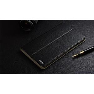 Кожаный чехол книжка подставка (премиум нат. кожа) для Lenovo Tab 3 8 Plus