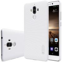 Пластиковый непрозрачный матовый нескользящий премиум чехол для Huawei Mate 9 Белый