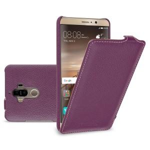 Кожаный чехол вертикальная книжка (премиум нат. кожа) для Huawei Mate 9  Фиолетовый