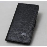 Кожаный чехол горизонтальная книжка подставка с крепежной застежкой для Huawei Mate 9  Черный
