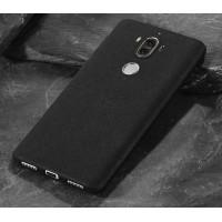 Силиконовый матовый непрозрачный чехол с нескользящим софт-тач покрытием для Huawei Mate 9  Черный