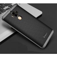 Силиконовый матовый непрозрачный чехол с текстурным покрытием Узоры для Huawei Mate 9  Черный
