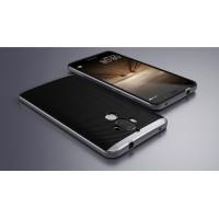 Двухкомпонентный силиконовый матовый непрозрачный чехол с поликарбонатным бампером для Huawei Mate 9 Черный