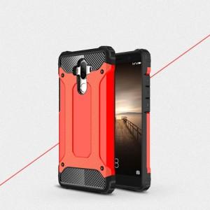 Противоударный двухкомпонентный силиконовый матовый непрозрачный чехол с поликарбонатными вставками экстрим защиты для Huawei Mate 9