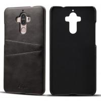 Кожаный чехол накладка (премиум нат. кожа) с отсеком для карт для Huawei Mate 9