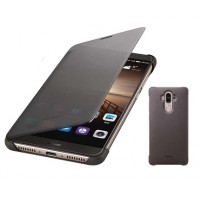 Оригинальный чехол флип с активным полноэкранным полупрозрачным окном вызова для Huawei Mate 9 Серый
