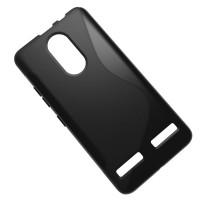 Силиконовый матовый полупрозрачный чехол с дизайнерской текстурой S для Lenovo K6/K6 Power Черный