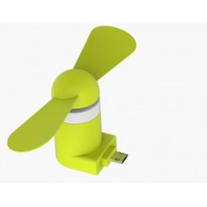 Карманный Micro USB вентилятор с безопасными силиконовыми лопастями