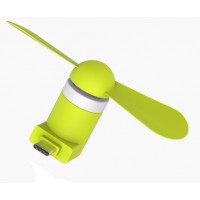 Карманный USB Type-C вентилятор с безопасными силиконовыми лопастями
