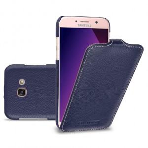 Кожаный чехол вертикальная книжка (премиум нат. кожа) для Samsung Galaxy A5 (2017)