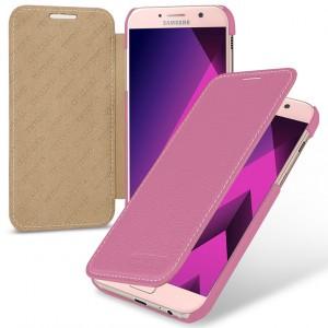Кожаный чехол горизонтальная книжка (премиум нат. кожа) для Samsung Galaxy A5 (2017)