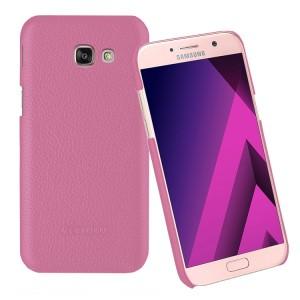 Кожаный чехол накладка (премиум нат. кожа) для Samsung Galaxy A5 (2017)
