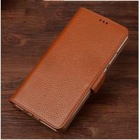 Кожаный чехол портмоне подставка (премиум нат. кожа) с крепежной застежкой для ASUS Zenfone Go 5.5