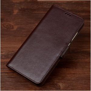 Кожаный чехол портмоне подставка (премиум нат. кожа) с крепежной застежкой для Asus ZenFone 3 5.2