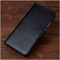 Кожаный чехол портмоне подставка (премиум нат. кожа) с крепежной застежкой для Asus ZenFone 3 Deluxe