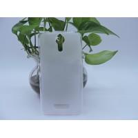 Силиконовый матовый полупрозрачный чехол для Acer Liquid Zest Plus  Белый