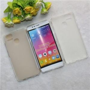 Силиконовый матовый полупрозрачный чехол для Asus ZenFone 3 Zoom Белый