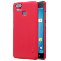 Пластиковый непрозрачный матовый нескользящий премиум чехол с повышенной шероховатостью для Asus ZenFone 3 Zoom Красный