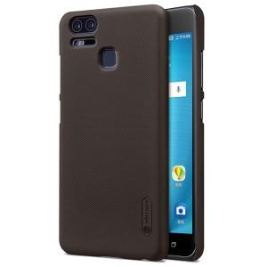 Пластиковый непрозрачный матовый нескользящий премиум чехол с повышенной шероховатостью для Asus ZenFone 3 Zoom Коричневый