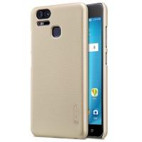 Пластиковый непрозрачный матовый нескользящий премиум чехол с повышенной шероховатостью для Asus ZenFone 3 Zoom Бежевый