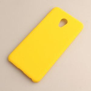 Пластиковый непрозрачный матовый чехол для Meizu MX6 Желтый