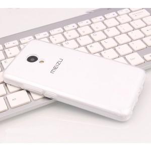Силиконовый глянцевый транспарентный чехол для Meizu M5s