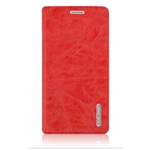 Винтажный чехол портмоне подставка с отсеком для карт на магнитной защелке для ZTE Nubia N1 Красный