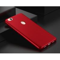 Силиконовый матовый непрозрачный чехол для Xiaomi RedMi 4X  Красный