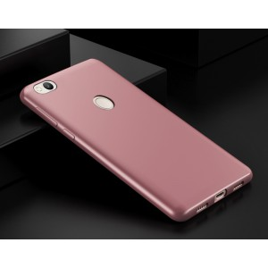 Силиконовый матовый непрозрачный чехол для Xiaomi RedMi 4X  Розовый