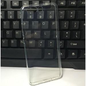 Силиконовый глянцевый транспарентный чехол для Huawei P10