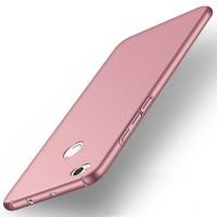 Пластиковый непрозрачный матовый чехол с допзащитой торцев для Xiaomi RedMi 4X  Розовый
