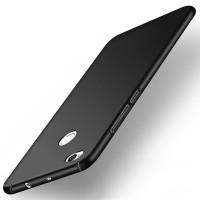 Пластиковый непрозрачный матовый чехол с допзащитой торцев для Xiaomi RedMi 4X  Черный