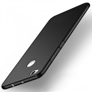 Пластиковый непрозрачный матовый чехол с допзащитой торцов для Xiaomi RedMi 4X Черный