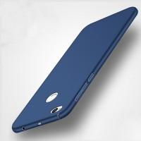 Пластиковый непрозрачный матовый чехол с допзащитой торцев для Xiaomi RedMi 4X  Синий