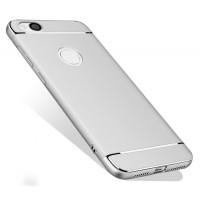 Пластиковый непрозрачный матовый металлик чехол с улучшенной защитой элементов корпуса для Xiaomi RedMi 4X  Белый
