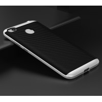 Противоударный двухкомпонентный силиконовый матовый непрозрачный чехол с поликарбонатными вставками экстрим защиты для Xiaomi RedMi 4X Белый