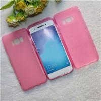 Силиконовый матовый полупрозрачный чехол для Samsung Galaxy S8  Розовый