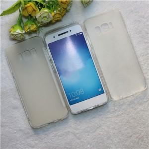 Силиконовый матовый полупрозрачный чехол для Samsung Galaxy S8 Белый