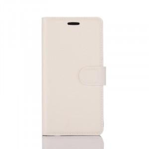 Чехол портмоне подставка на силиконовой основе с отсеком для карт на магнитной защелке для Samsung Galaxy S8 Белый