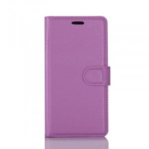 Чехол портмоне подставка на силиконовой основе с отсеком для карт на магнитной защелке для Samsung Galaxy S8 Фиолетовый