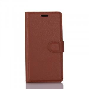 Чехол портмоне подставка на силиконовой основе с отсеком для карт на магнитной защелке для Samsung Galaxy S8 Коричневый