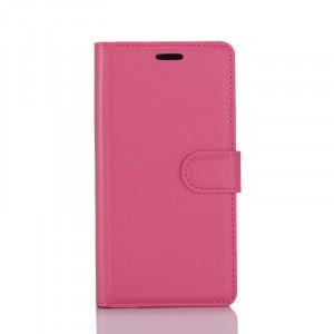 Чехол портмоне подставка на силиконовой основе с отсеком для карт на магнитной защелке для Samsung Galaxy S8 Пурпурный