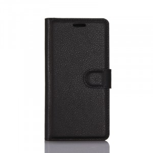 Чехол портмоне подставка на силиконовой основе с отсеком для карт на магнитной защелке для Samsung Galaxy S8 Черный