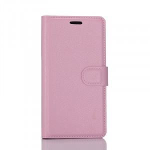 Чехол портмоне подставка на силиконовой основе с отсеком для карт на магнитной защелке для Samsung Galaxy S8 Розовый