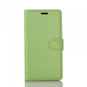 Чехол портмоне подставка на силиконовой основе с отсеком для карт на магнитной защелке для Samsung Galaxy S8 Зеленый