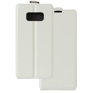 Чехол вертикальная книжка на силиконовой основе с отсеком для карт на магнитной защелке для Samsung Galaxy S8 Белый