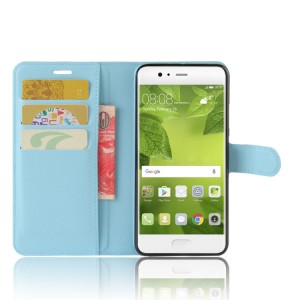Чехол портмоне подставка на силиконовой основе с отсеком для карт на магнитной защелке для Huawei P10 Plus