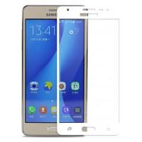 Полноэкранное ультратонкое износоустойчивое сколостойкое олеофобное защитное стекло-пленка для Samsung Galaxy J5 Prime Белый