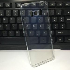 Силиконовый глянцевый транспарентный чехол для Samsung Galaxy S8 Plus